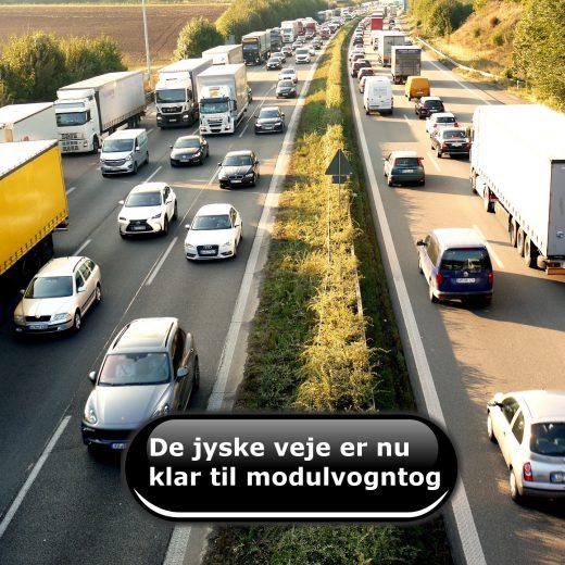 De jyske veje er nu klar til modulvogntog