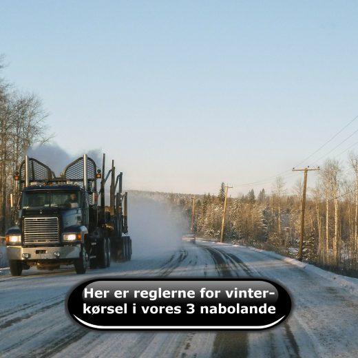 Her er reglerne for vinterkørsel i vores 3 nabolande