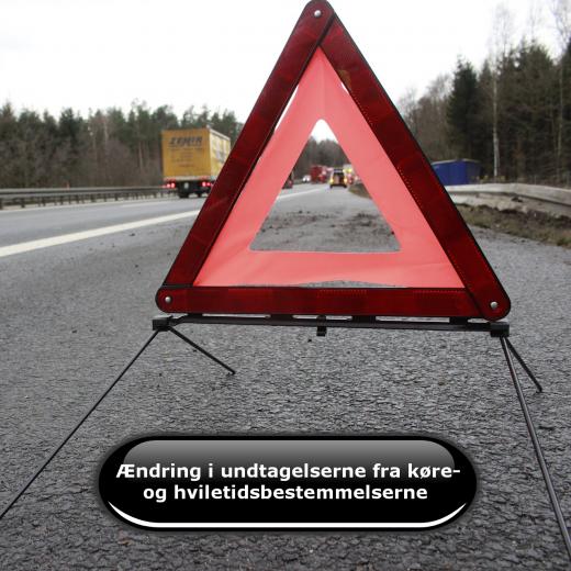 Ændring i undtagelserne fra køre- og hviletidsbestemmelserne
